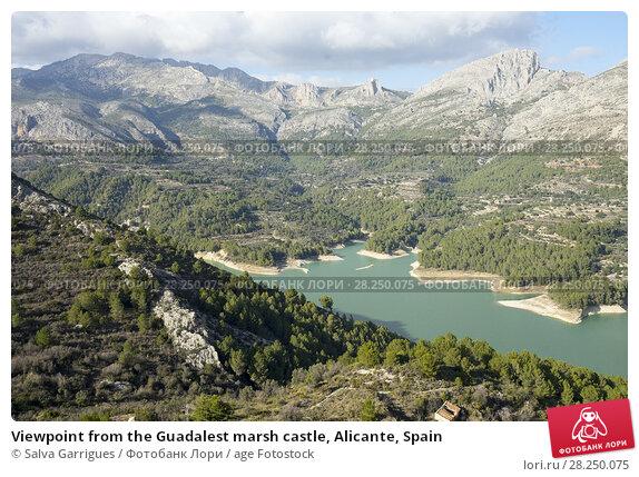Купить «Viewpoint from the Guadalest marsh castle, Alicante, Spain», фото № 28250075, снято 30 января 2018 г. (c) age Fotostock / Фотобанк Лори