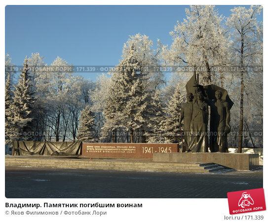 Владимир. Памятник погибшим воинам, фото № 171339, снято 8 января 2008 г. (c) Яков Филимонов / Фотобанк Лори