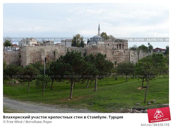 Влахернский участок крепостных стен в Стамбуле. Турция. Редакционное фото, фотограф Free Wind / Фотобанк Лори