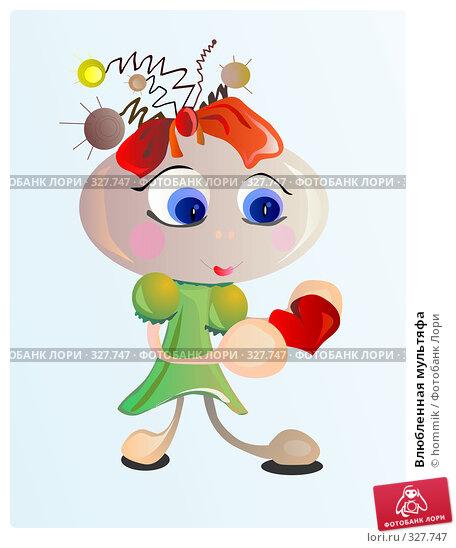 Влюбленная мультяфа, иллюстрация № 327747 (c) hommik / Фотобанк Лори