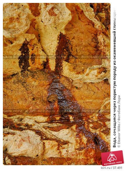 Купить «Вода, сочащаяся через пористую породу из окаменевшей глины цвета охры», фото № 37491, снято 13 мая 2007 г. (c) Eleanor Wilks / Фотобанк Лори