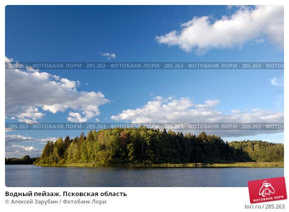 Купить «Водный пейзаж. Псковская область», фото № 285263, снято 8 сентября 2007 г. (c) Алексей Зарубин / Фотобанк Лори