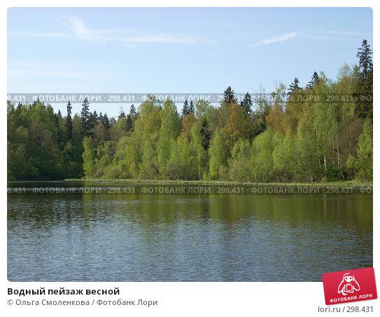 Купить «Водный пейзаж весной», фото № 298431, снято 9 мая 2008 г. (c) Ольга Смоленкова / Фотобанк Лори