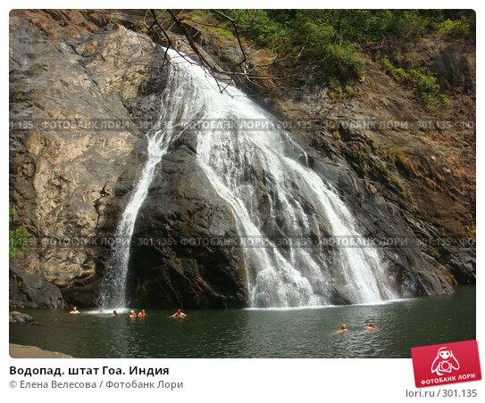 Купить «Водопад. штат Гоа. Индия», фото № 301135, снято 14 февраля 2008 г. (c) Елена Велесова / Фотобанк Лори