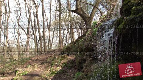 Водопад в Пущино. Боковой план. Стоковое видео, видеограф Mike The / Фотобанк Лори