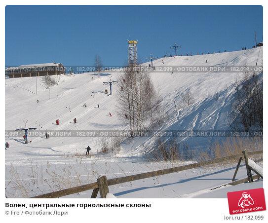 Волен, центральные горнолыжные склоны, фото № 182099, снято 15 февраля 2004 г. (c) Fro / Фотобанк Лори