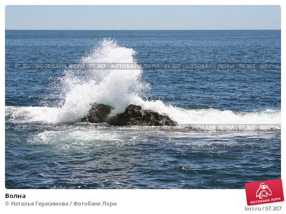 Волна, фото № 97307, снято 3 июля 2007 г. (c) Наталья Герасимова / Фотобанк Лори