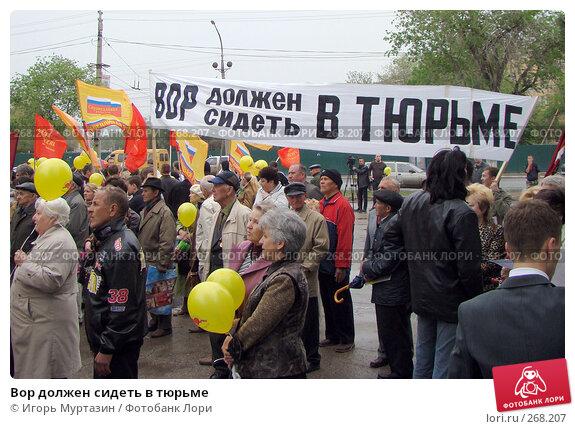 Вор должен сидеть в тюрьме, фото № 268207, снято 1 мая 2008 г. (c) Игорь Муртазин / Фотобанк Лори