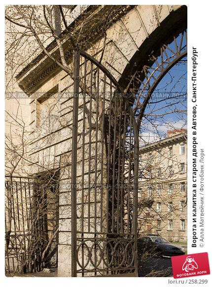 Ворота и калитка в старом дворе в Автово, Санкт-Петербург, фото № 258299, снято 12 апреля 2008 г. (c) Алла Матвейчик / Фотобанк Лори