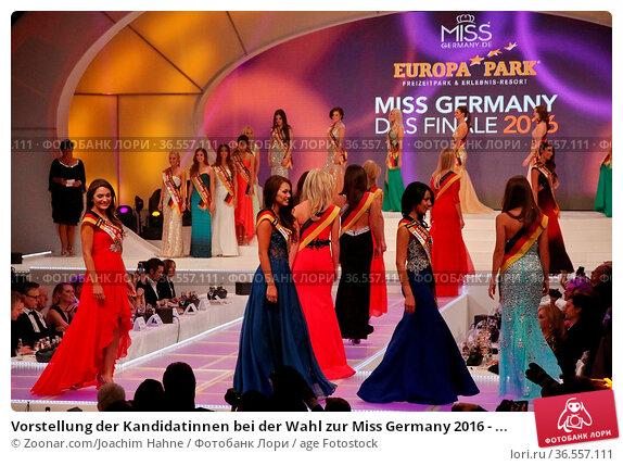 Vorstellung der Kandidatinnen bei der Wahl zur Miss Germany 2016 - ... Стоковое фото, фотограф Zoonar.com/Joachim Hahne / age Fotostock / Фотобанк Лори