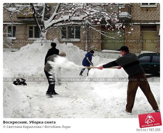 Воскресник. Уборка снега, фото № 187255, снято 27 января 2008 г. (c) Светлана Кириллова / Фотобанк Лори