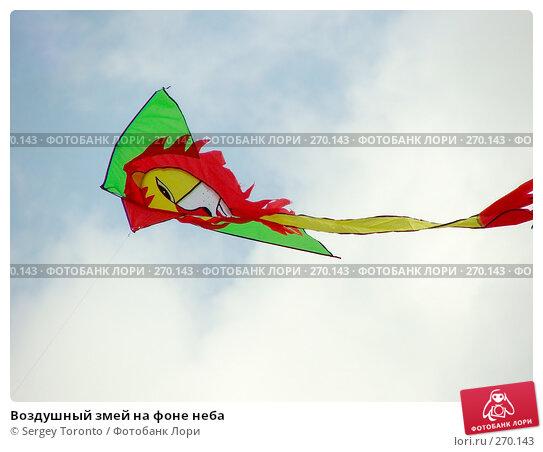 Купить «Воздушный змей на фоне неба», фото № 270143, снято 14 февраля 2005 г. (c) Sergey Toronto / Фотобанк Лори