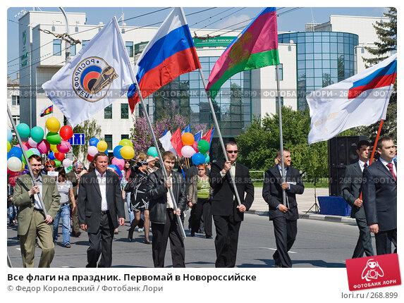Купить «Все флаги на праздник. Первомай в Новороссийске», фото № 268899, снято 1 мая 2008 г. (c) Федор Королевский / Фотобанк Лори