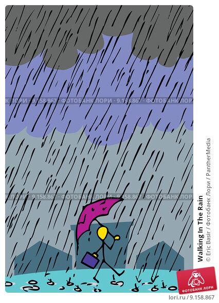 Купить «Walking In The Rain», иллюстрация № 9158867 (c) PantherMedia / Фотобанк Лори