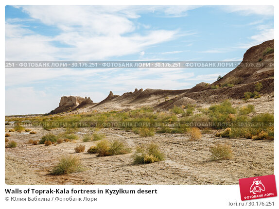 Купить «Walls of Toprak-Kala fortress in Kyzylkum desert», фото № 30176251, снято 21 октября 2016 г. (c) Юлия Бабкина / Фотобанк Лори