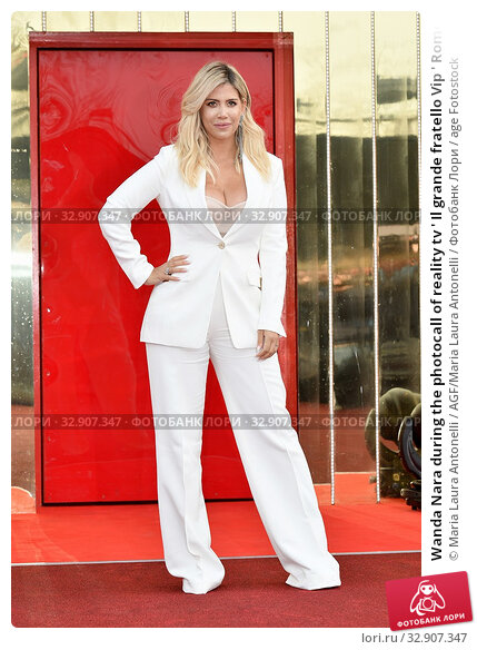 Wanda Nara during the photocall of reality tv ' Il grande fratello Vip ' Rome, ITALY-07-01-2020. Редакционное фото, фотограф Maria Laura Antonelli / AGF/Maria Laura Antonelli / age Fotostock / Фотобанк Лори