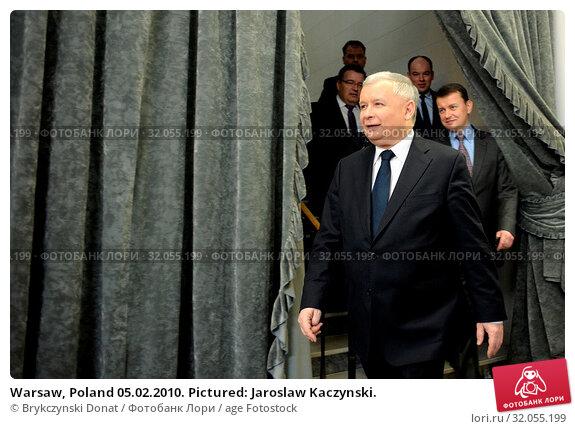 Warsaw, Poland 05.02.2010. Pictured: Jaroslaw Kaczynski. Редакционное фото, фотограф Brykczynski Donat / age Fotostock / Фотобанк Лори