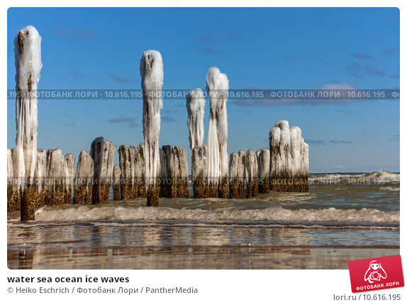 water sea ocean ice waves. Стоковое фото, фотограф Heiko Eschrich / PantherMedia / Фотобанк Лори