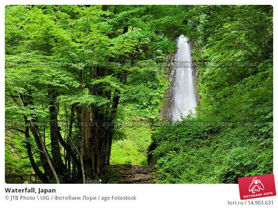 Купить «Waterfall, Japan», фото № 14903631, снято 22 июня 2018 г. (c) age Fotostock / Фотобанк Лори