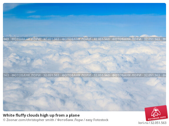 White fluffy clouds high up from a plane. Стоковое фото, фотограф Zoonar.com/christopher smith / easy Fotostock / Фотобанк Лори