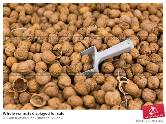 Whole walnuts displayed for sale. Стоковое фото, фотограф Яков Филимонов / Фотобанк Лори