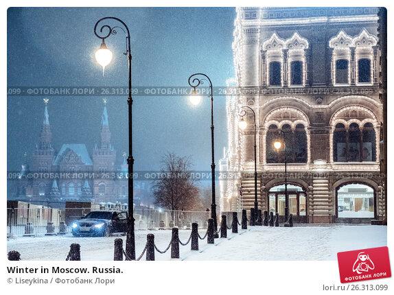Winter in Moscow. Russia., фото № 26313099, снято 11 ноября 2016 г. (c) Liseykina / Фотобанк Лори