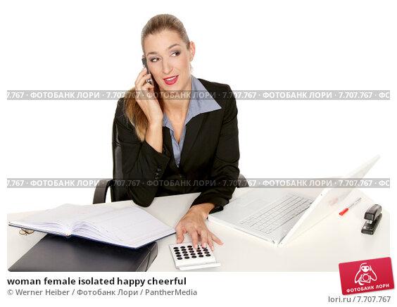 Купить «woman female isolated happy cheerful», фото № 7707767, снято 22 июля 2019 г. (c) PantherMedia / Фотобанк Лори