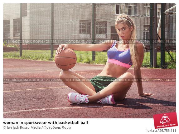 woman in sportswear with basketball ball, фото № 26755111, снято 7 июля 2017 г. (c) Jan Jack Russo Media / Фотобанк Лори