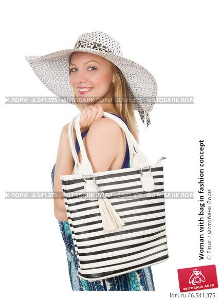 Купить «Woman with bag in fashion concept», фото № 6541375, снято 14 августа 2014 г. (c) Elnur / Фотобанк Лори