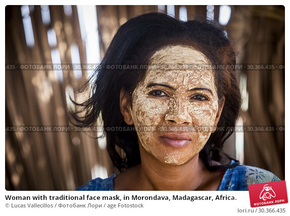Купить «Woman with traditional face mask, in Morondava, Madagascar, Africa.», фото № 30366435, снято 17 июня 2019 г. (c) age Fotostock / Фотобанк Лори