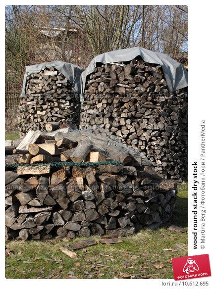 wood round stack dry stock. Стоковое фото, фотограф Martina Berg / PantherMedia / Фотобанк Лори