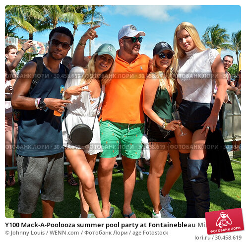 Y100 Mack-A-Poolooza summer pool party at Fontainebleau Miami Beach... (2017 год). Редакционное фото, фотограф Johnny Louis / WENN.com / age Fotostock / Фотобанк Лори