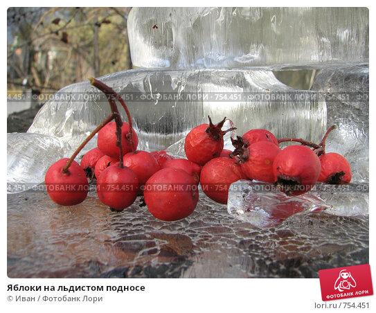 Яблоки на льдистом подносе, фото № 754451, снято 16 ноября 2008 г. (c) Иван / Фотобанк Лори