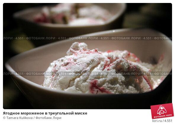 Ягодное мороженое в треугольной миске, фото № 4551, снято 10 июня 2006 г. (c) Tamara Kulikova / Фотобанк Лори