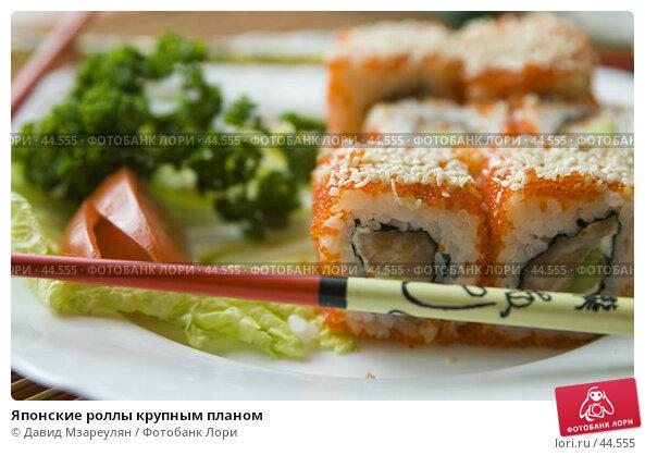 Купить «Японские роллы крупным планом», фото № 44555, снято 17 мая 2007 г. (c) Давид Мзареулян / Фотобанк Лори