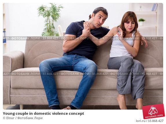 Купить «Young couple in domestic violence concept», фото № 33868427, снято 7 ноября 2019 г. (c) Elnur / Фотобанк Лори