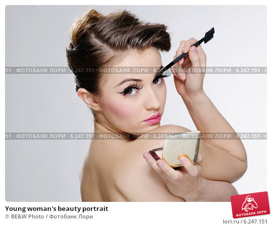 Купить «Young woman's beauty portrait», фото № 6247151, снято 19 июня 2018 г. (c) BE&W Photo / Фотобанк Лори