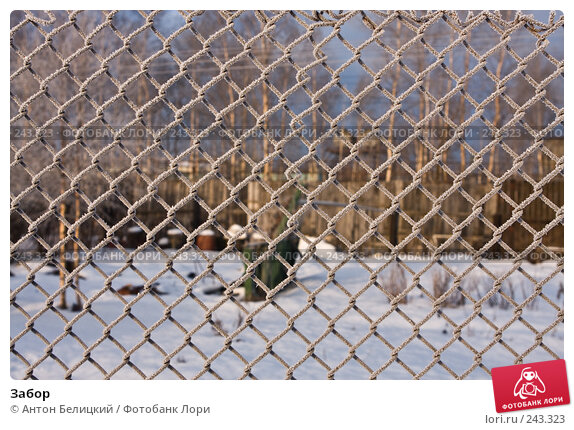 Забор, фото № 243323, снято 11 февраля 2008 г. (c) Антон Белицкий / Фотобанк Лори