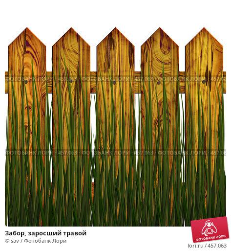 Купить «Забор, заросший травой», иллюстрация № 457063 (c) sav / Фотобанк Лори