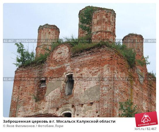 Заброшенная церковь в г. Мосальск Калужской области, фото № 82467, снято 28 июля 2007 г. (c) Яков Филимонов / Фотобанк Лори