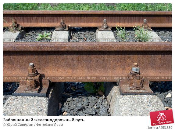 Заброшенный железнодорожный путь, фото № 253559, снято 16 августа 2007 г. (c) Юрий Синицын / Фотобанк Лори