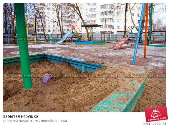 Забытая игрушка, фото № 229131, снято 19 марта 2008 г. (c) Сергей Лаврентьев / Фотобанк Лори
