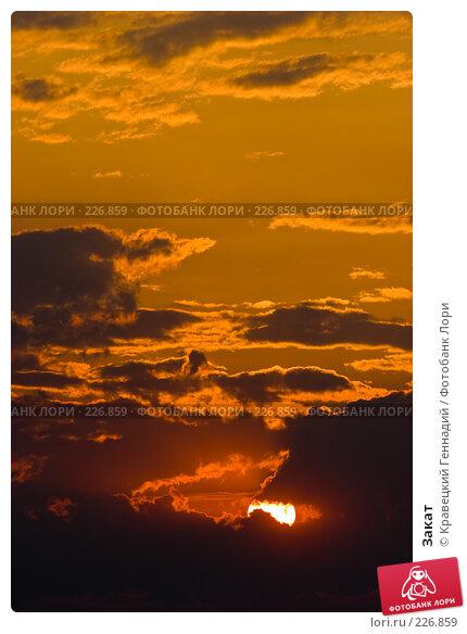 Купить «Закат», фото № 226859, снято 12 августа 2005 г. (c) Кравецкий Геннадий / Фотобанк Лори