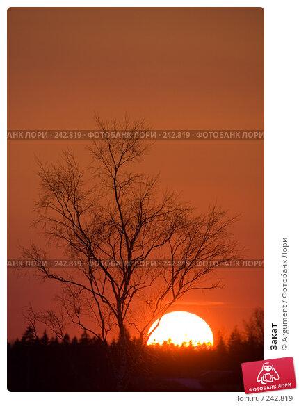 Закат, фото № 242819, снято 29 марта 2008 г. (c) Argument / Фотобанк Лори