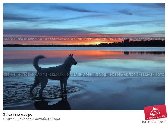 Закат на озере, фото № 332943, снято 15 июня 2008 г. (c) Игорь Соколов / Фотобанк Лори