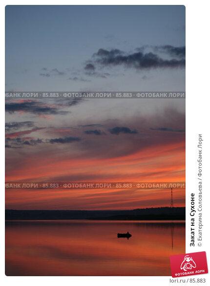 Закат на Сухоне, фото № 85883, снято 2 августа 2007 г. (c) Екатерина Соловьева / Фотобанк Лори