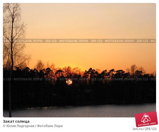 Закат солнца, фото № 259123, снято 20 апреля 2008 г. (c) Юлия Селезнева / Фотобанк Лори
