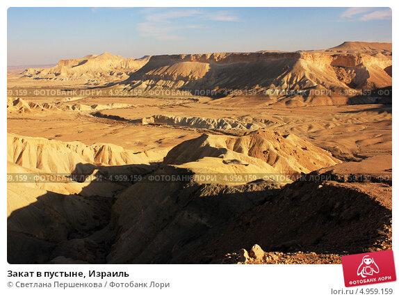 Закат в пустыне, Израиль (2012 год). Стоковое фото, фотограф Светлана Першенкова / Фотобанк Лори
