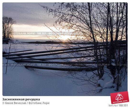 Заснеженная речушка, фото № 188551, снято 3 января 2008 г. (c) Бяков Вячеслав / Фотобанк Лори