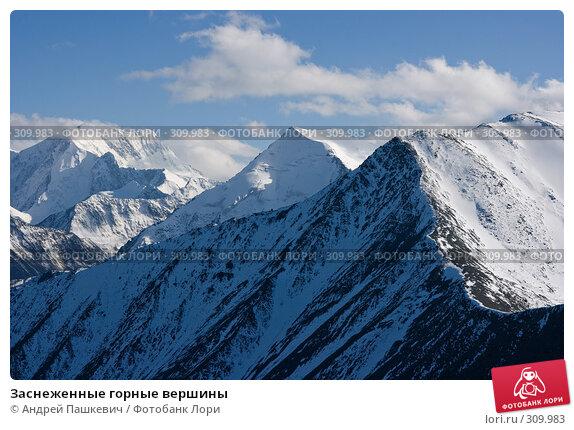 Заснеженные горные вершины, фото № 309983, снято 24 марта 2017 г. (c) Андрей Пашкевич / Фотобанк Лори